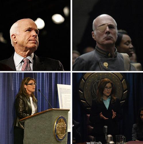 McCain / Palin = Tigh / Roslin