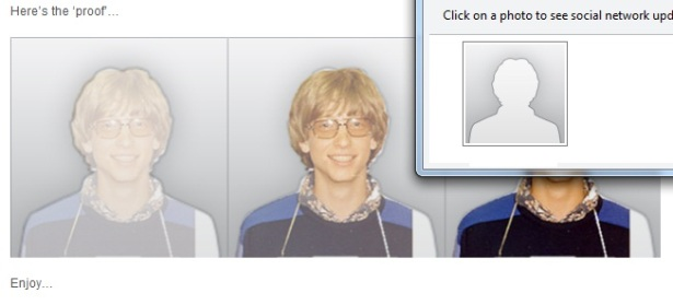 Bill Gates Mug Shot in Outlook