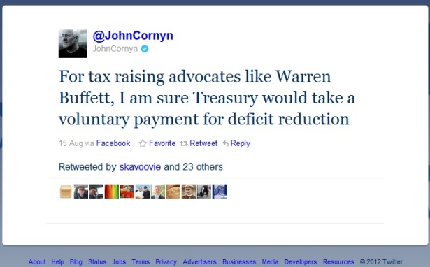 Cornyn Calls out Buffett on Personal Contributions to Debt Reduction